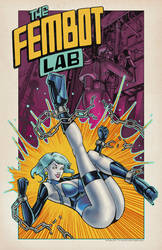 The Fembot Lab with logo by chriscanianoart