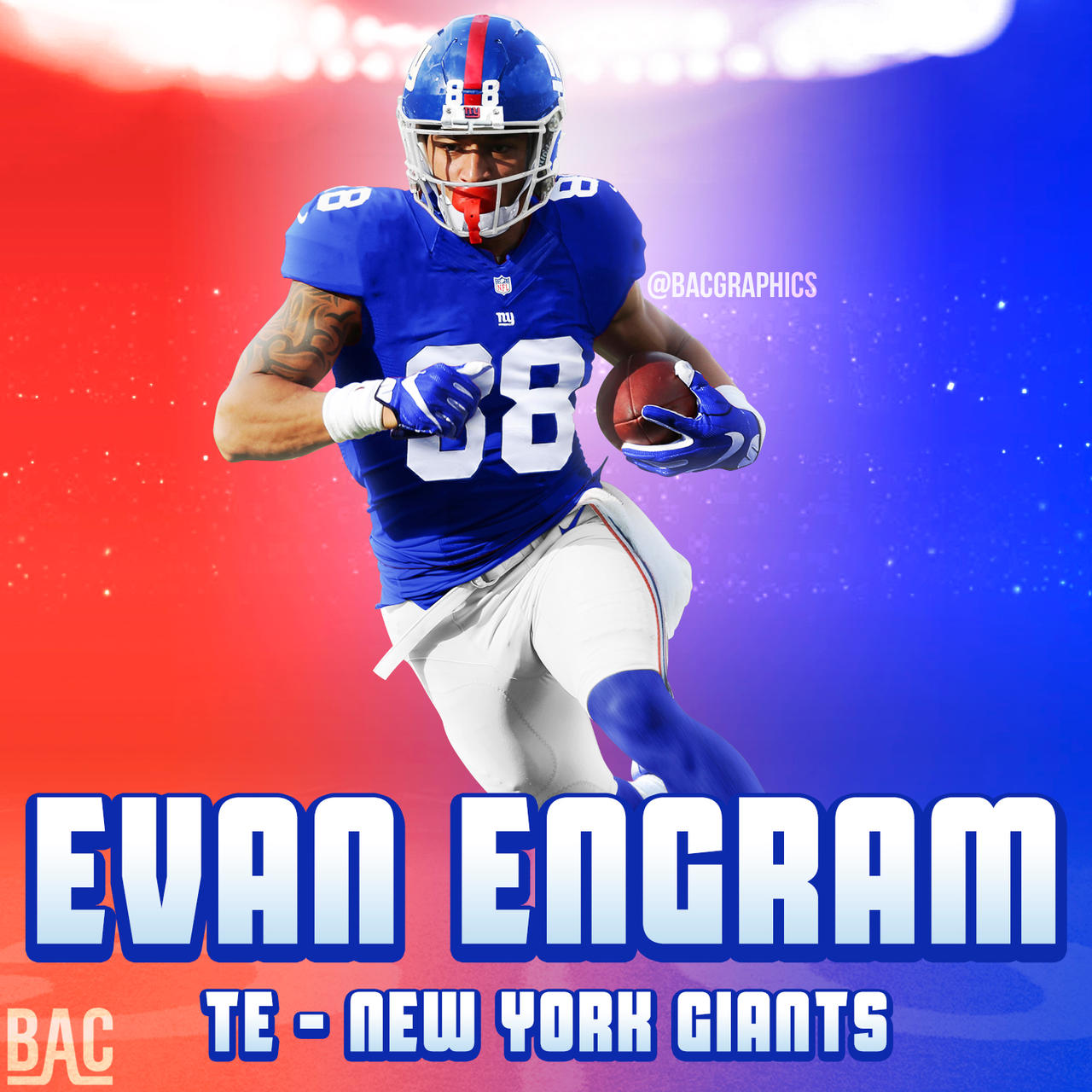 pretty nice 01787 aac8e Evan Engram New York Giants Jersey Swap by BacGraphics on ...