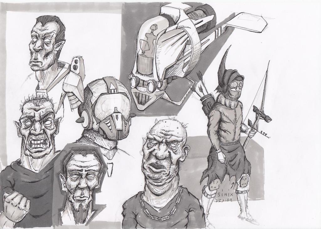 sketching away by TomHeye