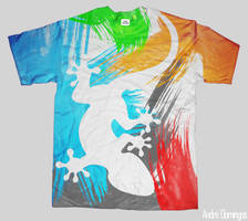 Gecko T-Shirt by andrepa