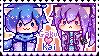 Gakupo x kaito (Gakukai) Stamp! by SolangeShion