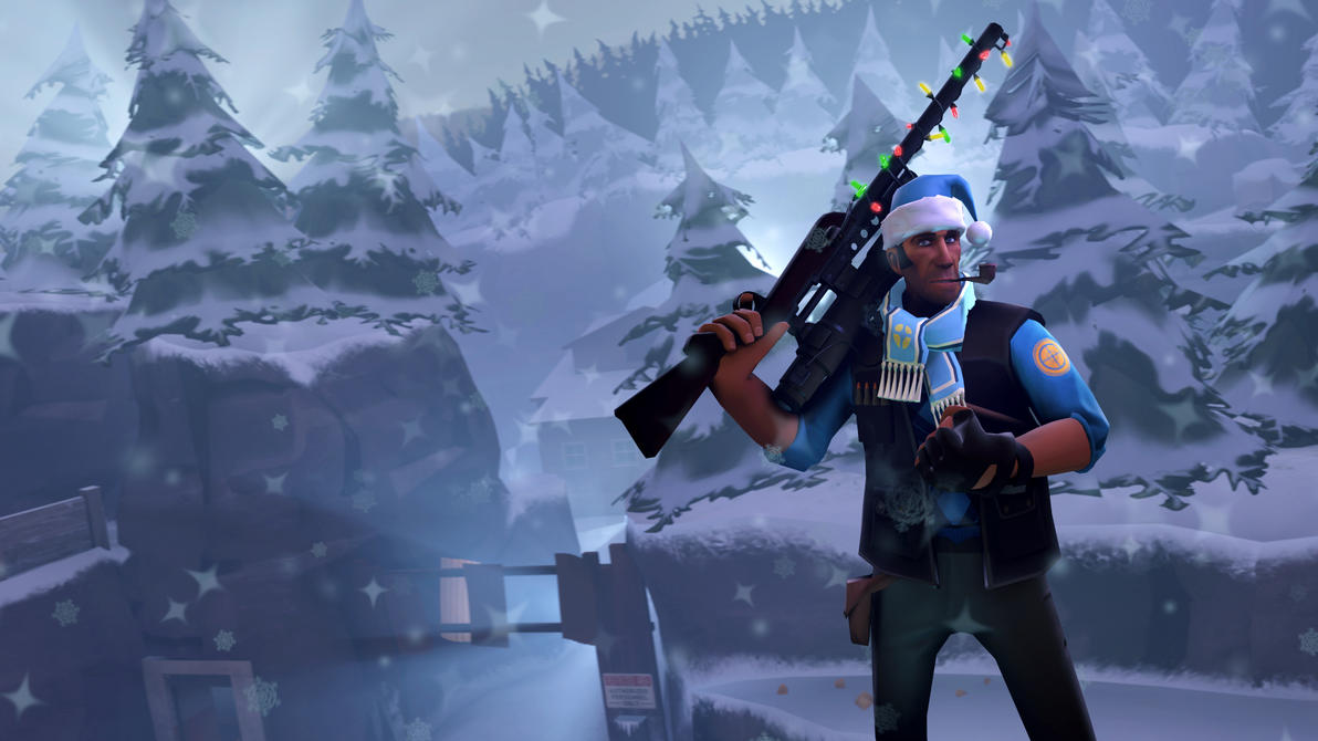Team Fortress 2 - Jolly Sniper in Winter Paradise by ...