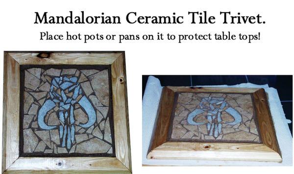 Mandalorian mosaic tile trivet by AG88