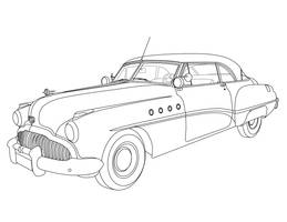1949 Buick Roadmaster Riviera Vectorized by ticoun