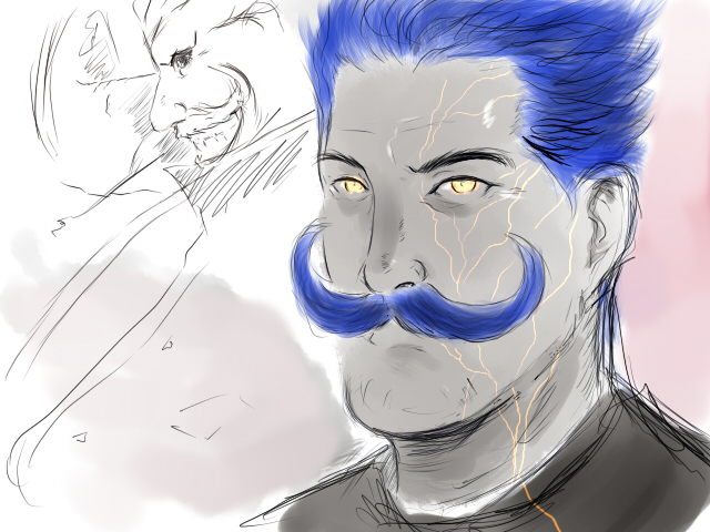 moustache blue by cooler1985