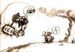 Poppy vs Teemo by Lh0o