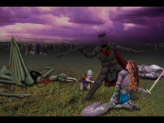 Heroism on the Pelennor Fields by len