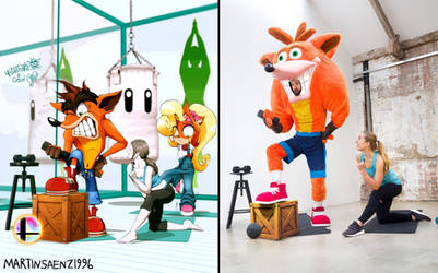 Crash Getting Ready for Smash: Side-by-Side