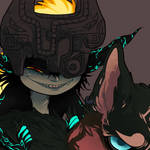 Midna and Wolf Link by CheesyyCake