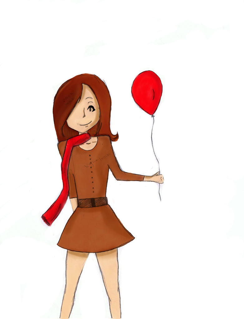 A Little Red Balloon by faeriestorm