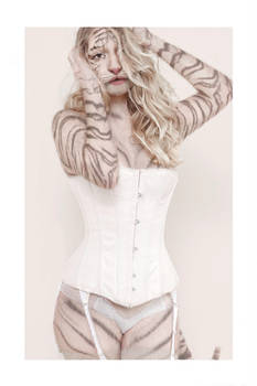 White Tiger - White Corset by OdysseusUT