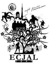ECJAL 2007 Shirt Design White by visualscope