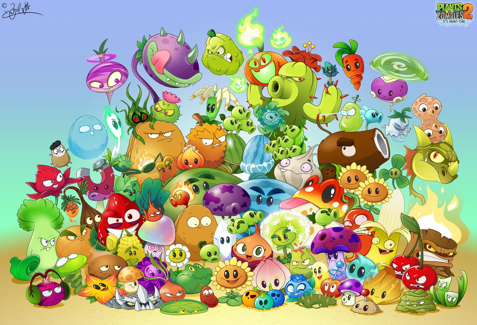 Plants Vs Zombies 2 - 2015 by elad3elad on DeviantArt