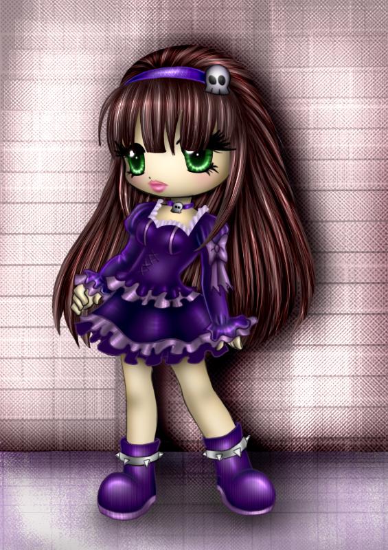 goth lolita  colab with Kaelmo by vlower