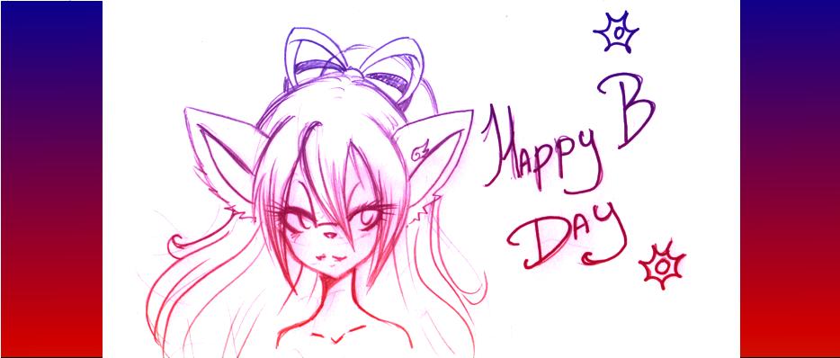 Happy B day  lauretta-chan by vlower