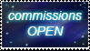 Commissions open stamp by vlower