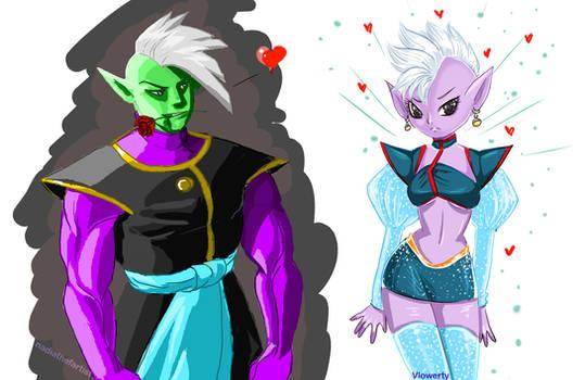 Zamasu and shin Collab