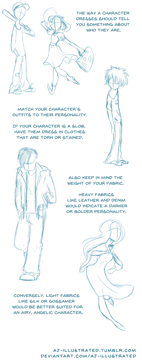 Tutorial - Designing Character Clothing 1 by AJ-illustrated