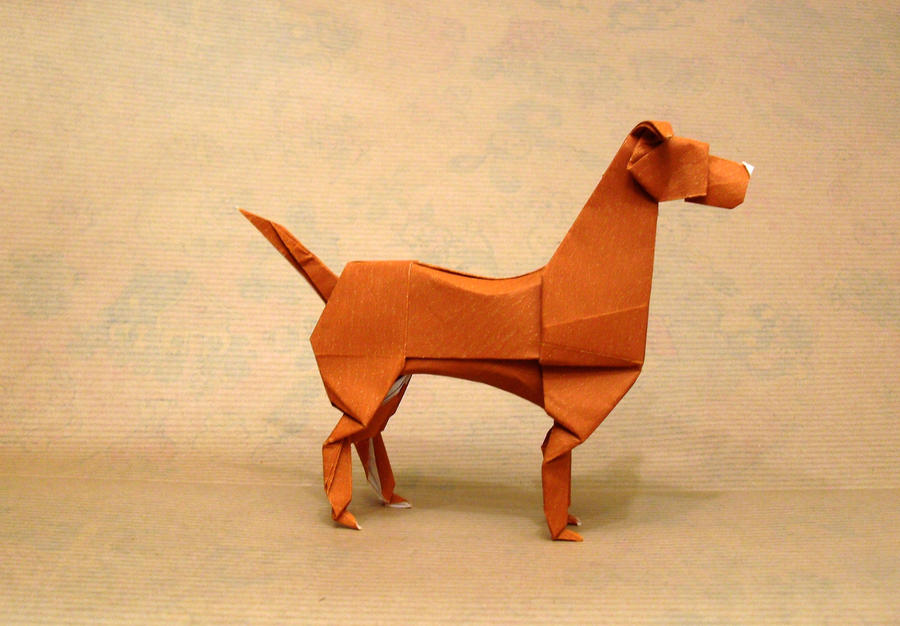 Origami Boxer Dog By Orestigami