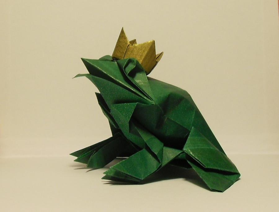 The Origami Frog Prince by Orestigami