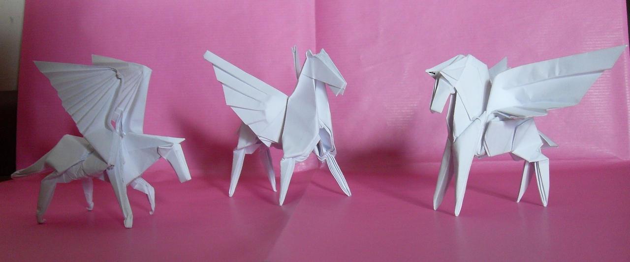 Too many winged horses by Orestigami