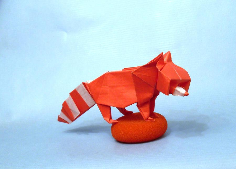 Origami Raccoon by Orestigami