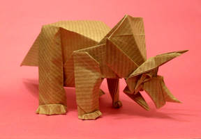 Origami Triceratops by Orestigami