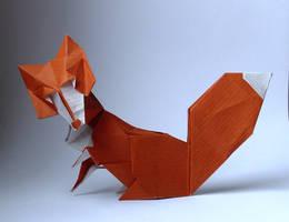 Origami fox by Orestigami