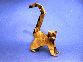 Origami Ring-tailed Lemur by Orestigami