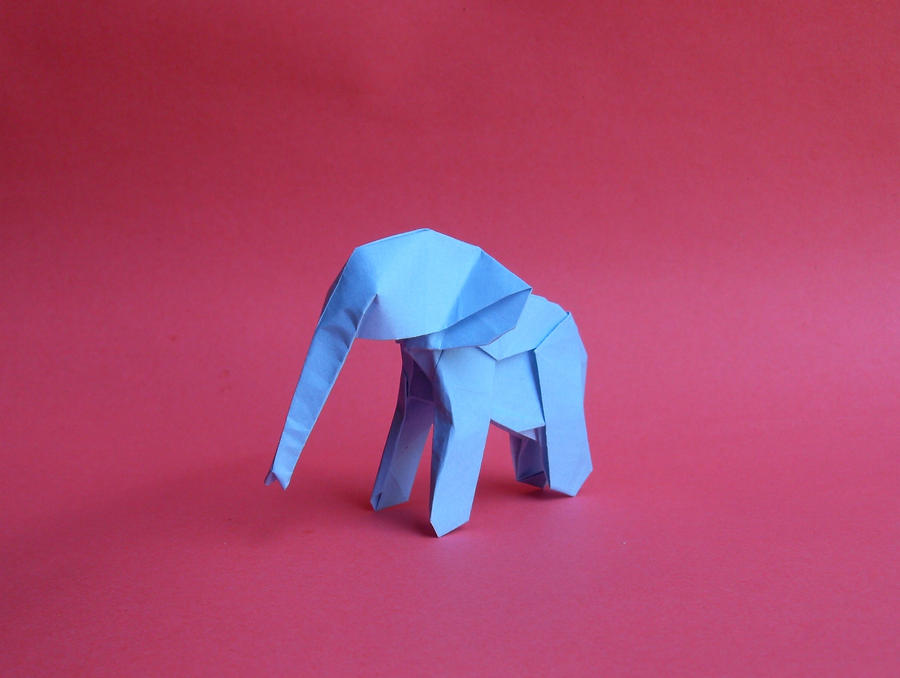 origami baby elephant by orestigami on deviantart