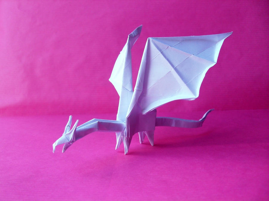how to make an origami simple dragon