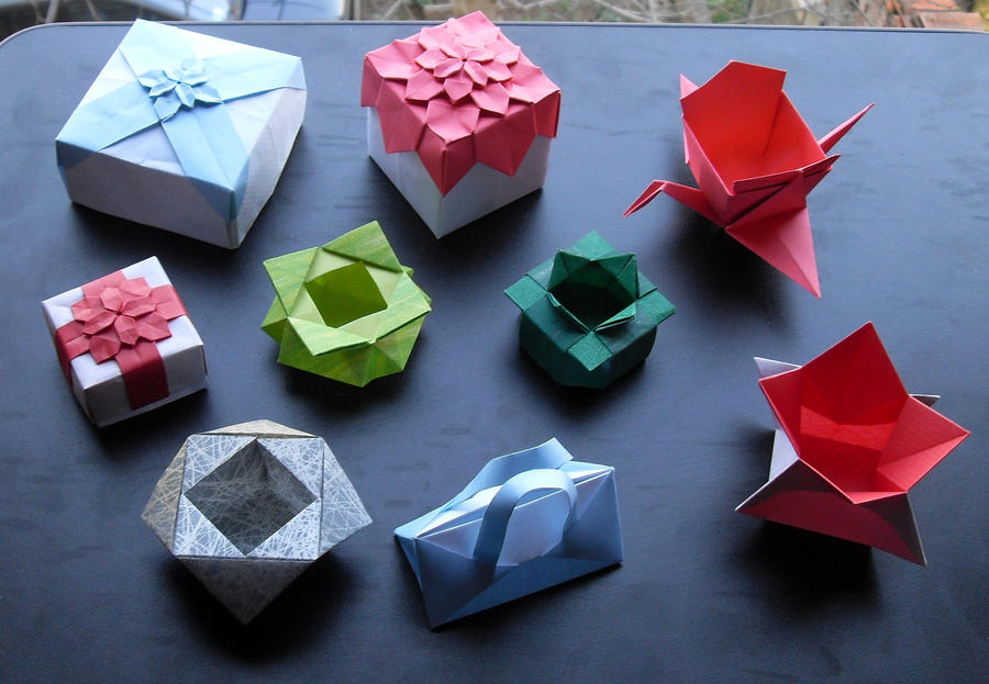 origami boxes and containers by orestigami on deviantart