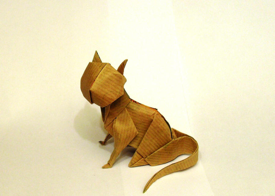 Origami Sitting Cat By Orestigami On Deviantart