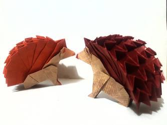 Origami Hedgehogs by Orestigami