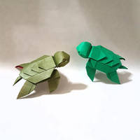 Origami sea turtles