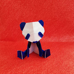 Origami Little Blue Panda
