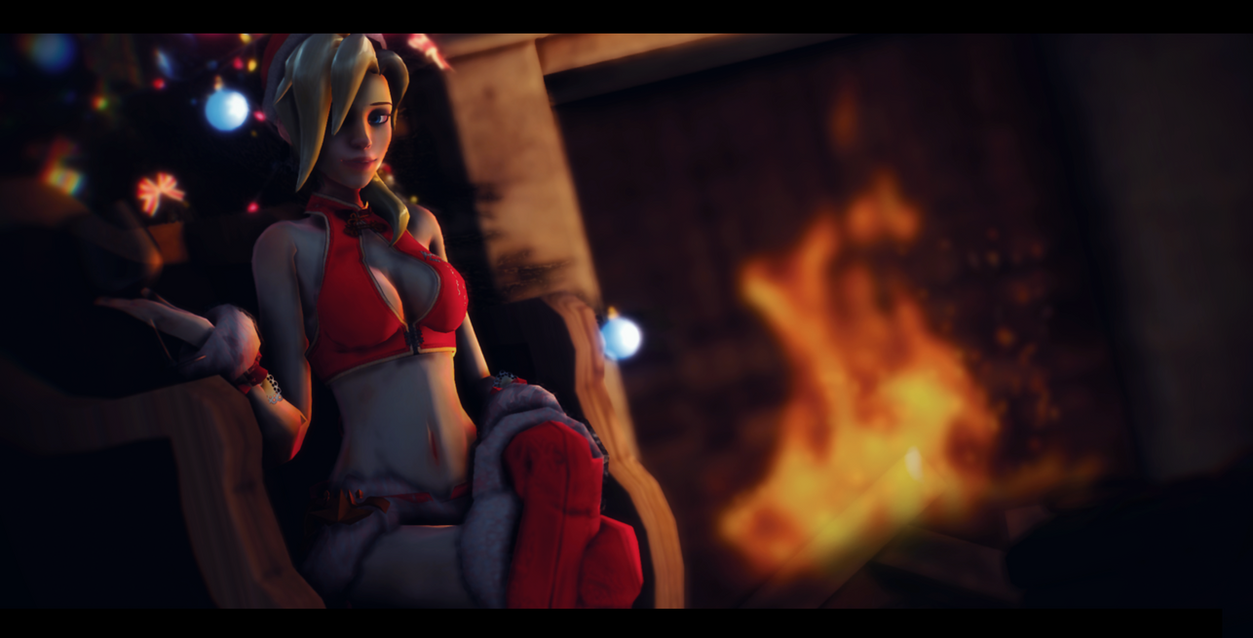 Mmd overwatch christmas time with mercy by - Overwatch christmas wallpaper ...