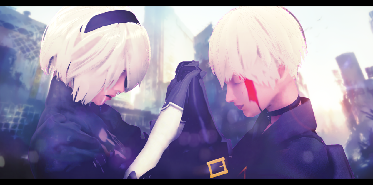 3d mmd nier automata 2b gets fucked in cakeface 9
