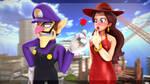  Super Mario  Waluigi's Attempt at Romance by UniversalKun