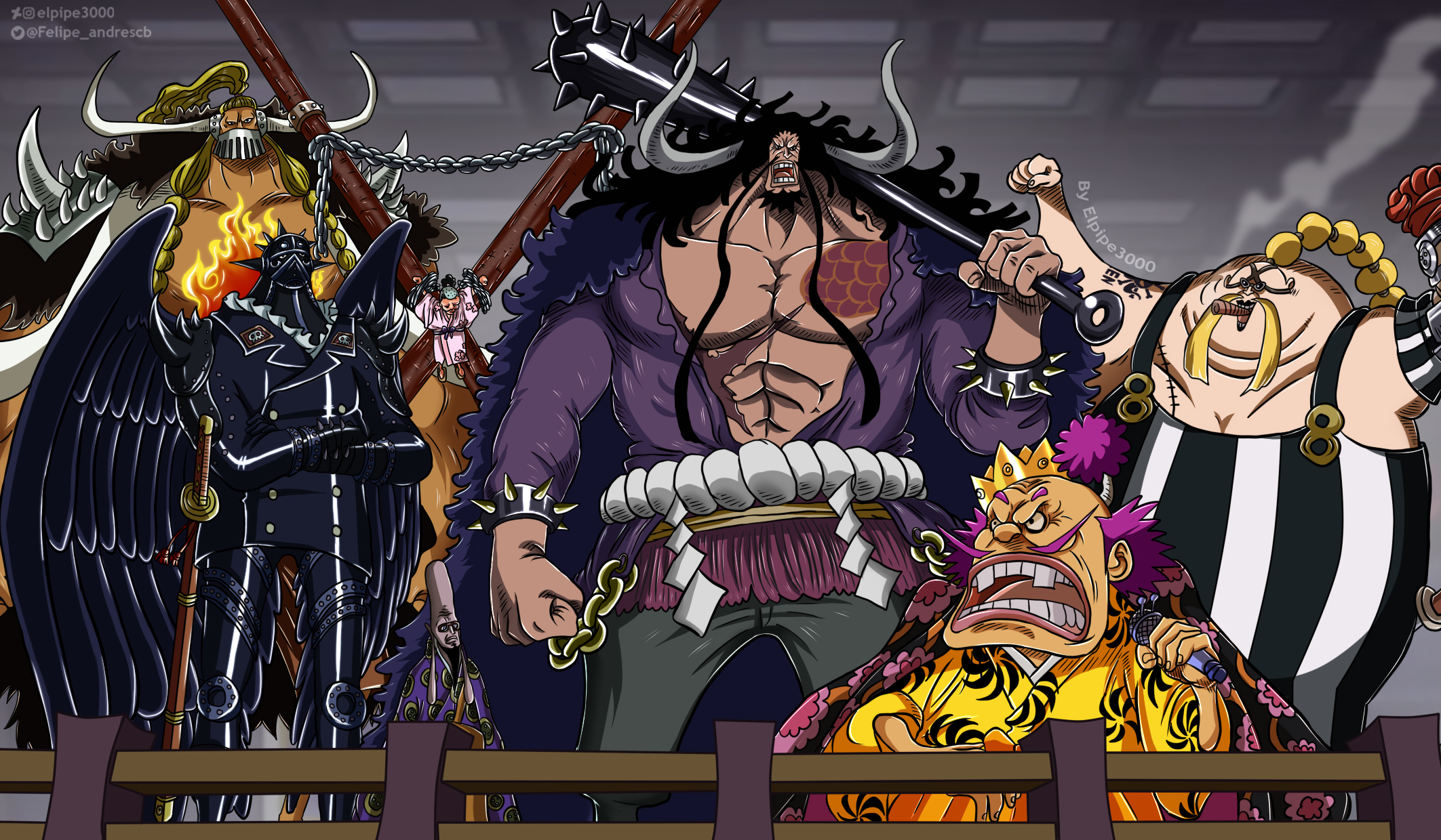 One Piece 984 Piratas Bestias By Elpipe3000 On Deviantart