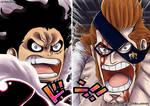 One Piece 990 - Luffy y Xdrake