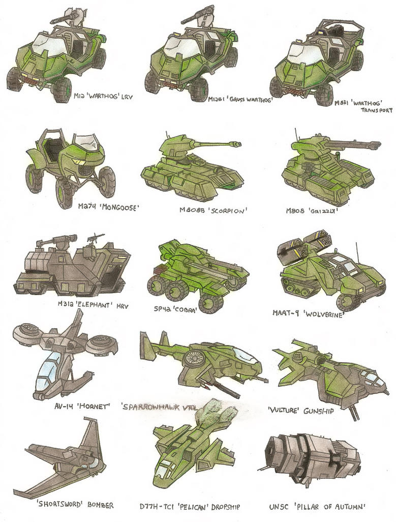 UNSC Vehicles by Trooper1212
