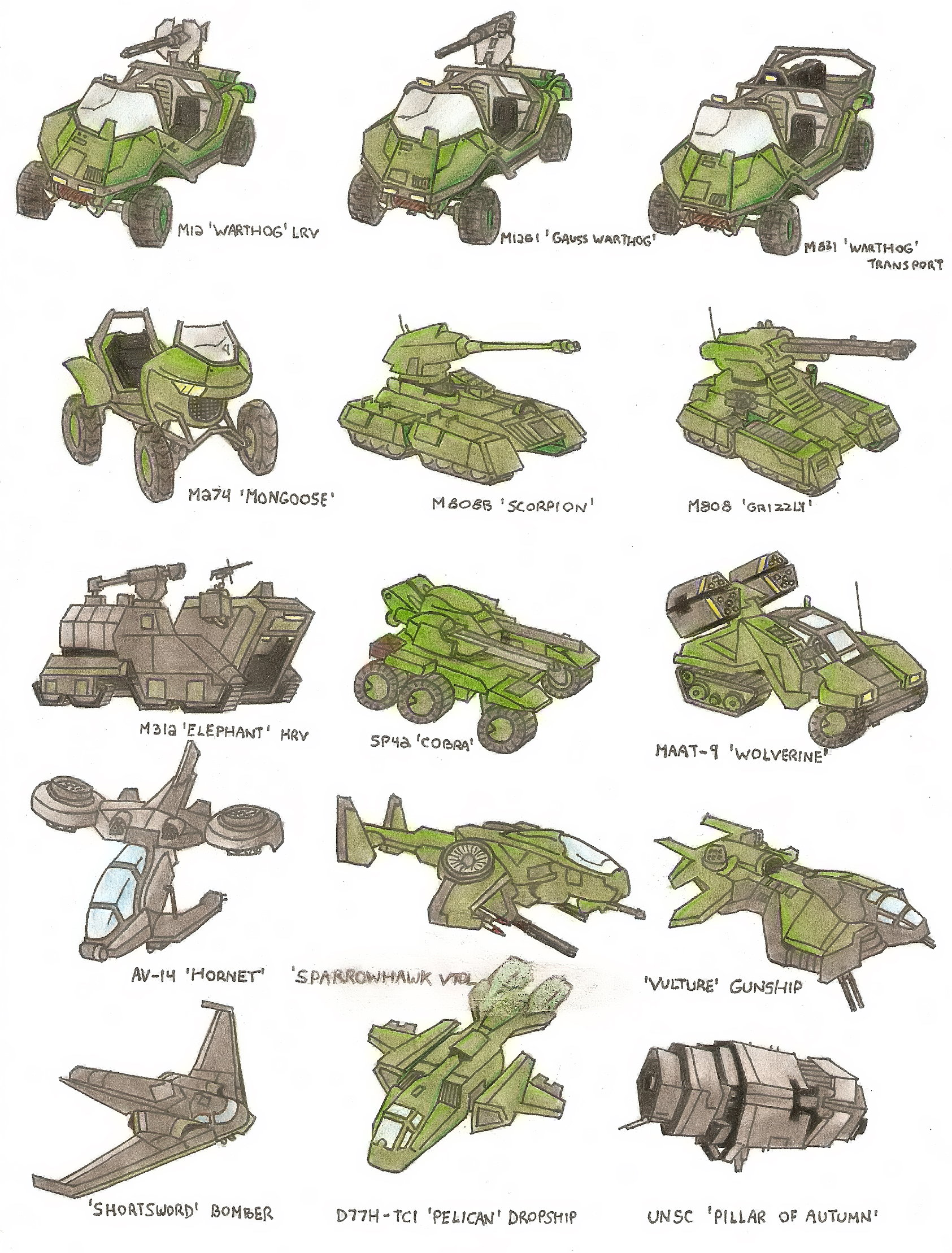 UNSC Updated Minor Vehicle list UNSC_Vehicles_by_Trooper1212