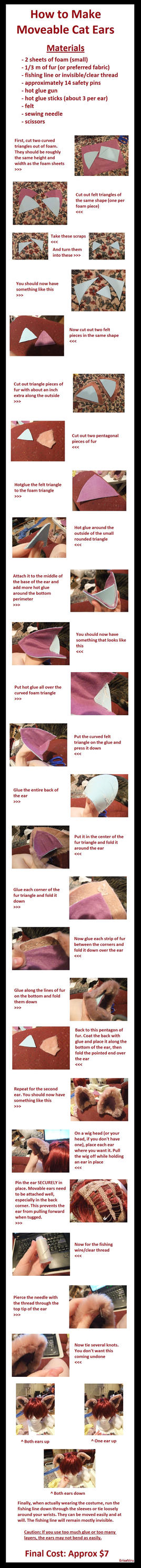 Moveable Cat Ear Tutorial by chameleoncosplayteam