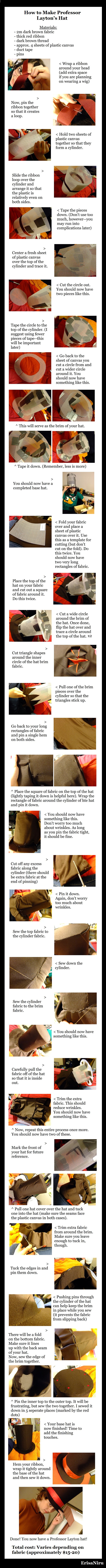Professor Layton Hat Tutorial by chameleoncosplayteam