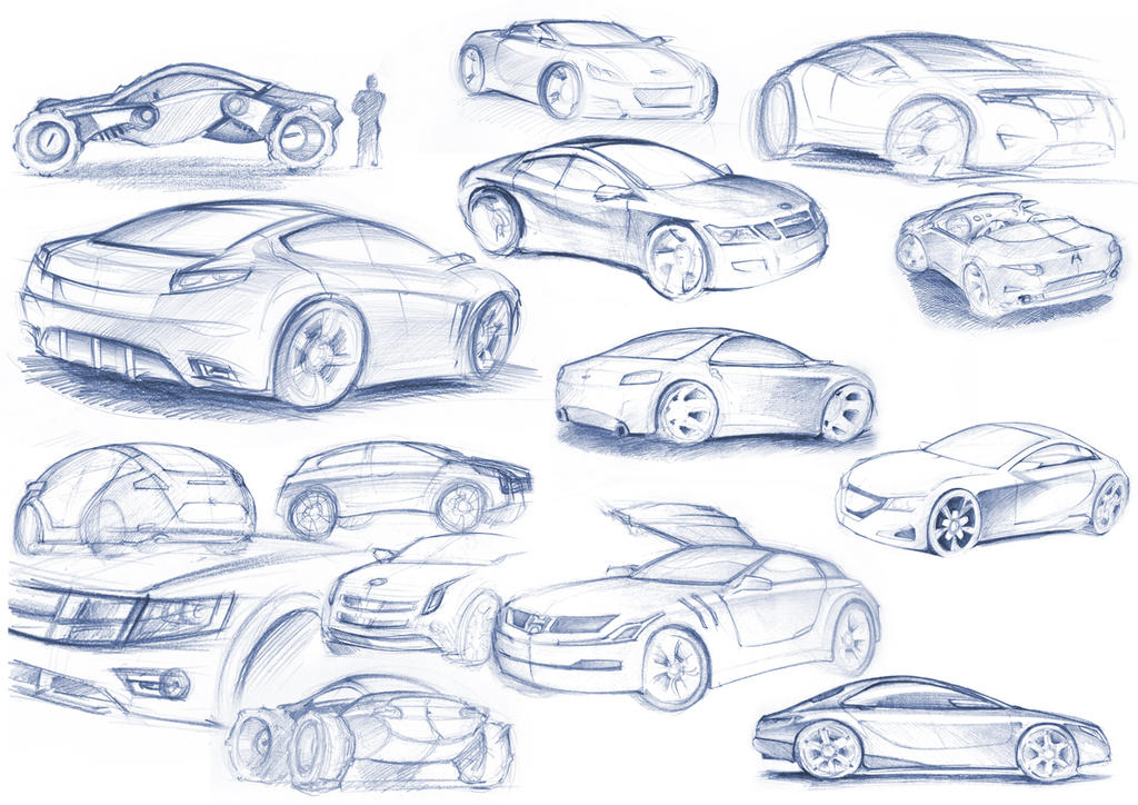 car sketches by gizmoaseth on DeviantArt