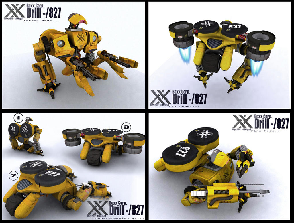 Drill - 827 mining droid by gizmoaseth