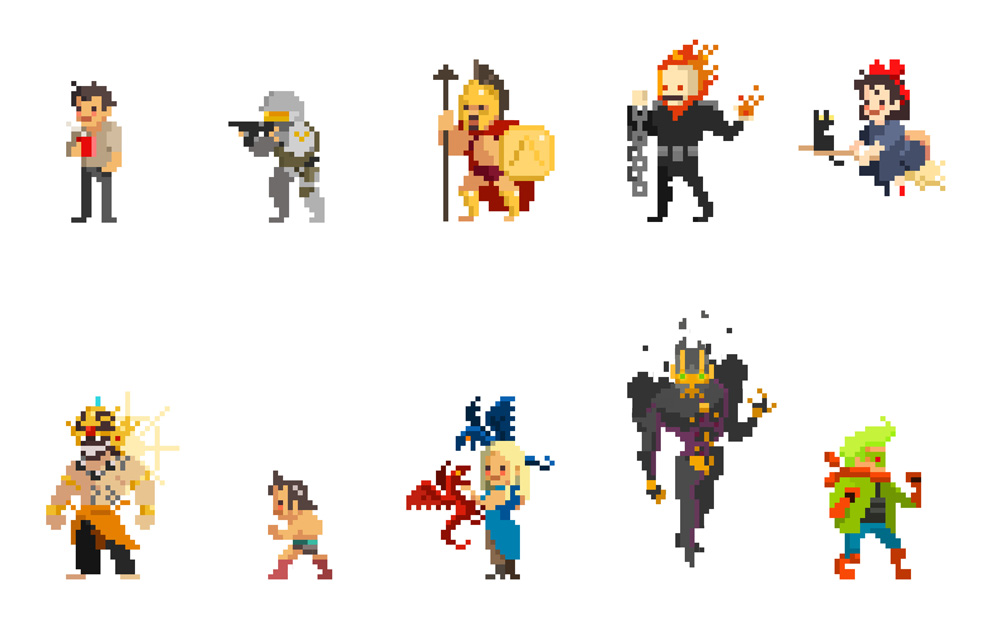 Character Design Pixel Art : One month self challenge pixel character by mirugin on
