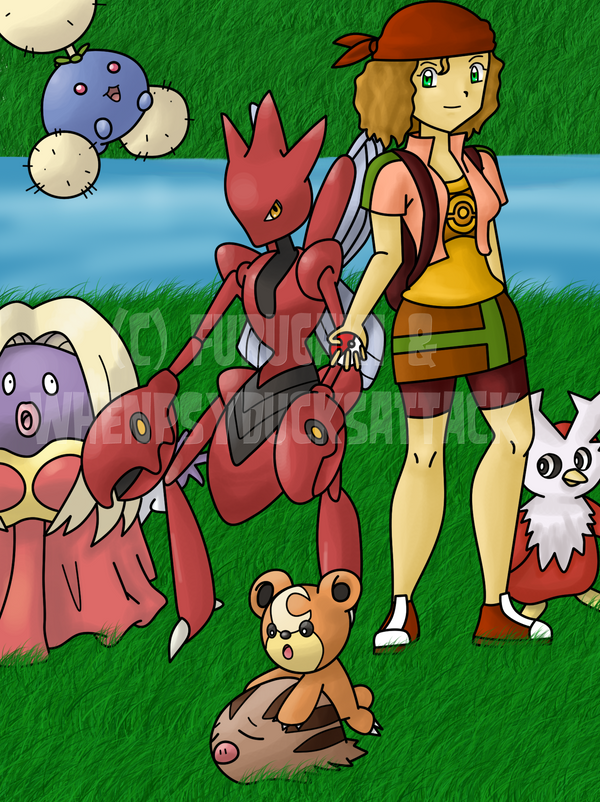 Thomas and her Pokemon by WhenPsyducksAttack
