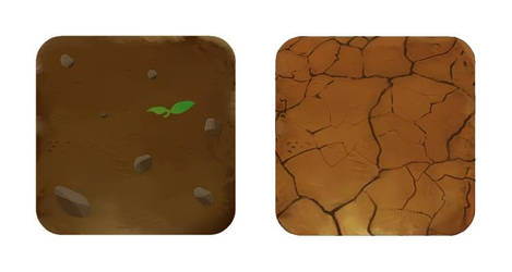 Arable And Cracked Soil tile